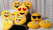 Home,hotel, Bedding , Gift Use decorative emoji pillow