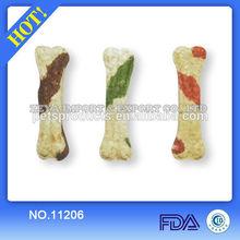 double color rawhide dog bones 11206D