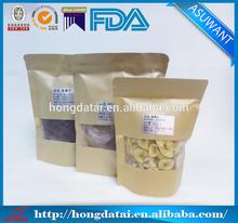 Clear window ziplock kraft paper bag snack packaging bag
