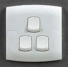 British standard switches 3 gang 1 way switch----E301