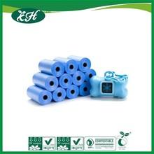 blue cheap composable plastic pet waste bag