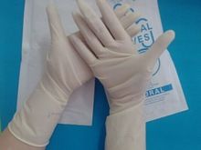 Non Sterile Powdered Free Latex Examination Gloves for sale