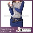 2015 korean style peru new fashion alpaca sweater dress
