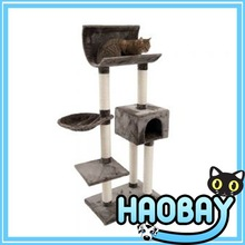 Sisal Cat Tree House With Cat Perch
