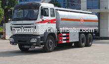 Beiben oil carrier 25000L fuel tank truck oil off road tank truck price