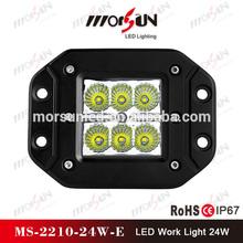 New products 24w LED working light, 12v 24 watt LED work light, car led headlight 24w 2400lm