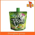 Zhongbao plastic package food grade aluminum foil liquid stand up pouch with spoutfor jelly