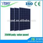 250W poly solar panel system
