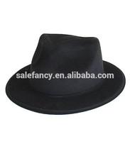 Men Women Black Cotton Cap Fedora Trilby Gangster Panama Farmer Jazz Hat Stripe QHAT-2207