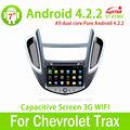 Multi-touch screen capacitiva carro dvd gps auto Chevrolet TRAX com Android 4.2 sistema multimídia central