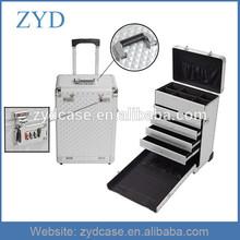 Diamond Rolling Aluminum Makeup Vanity Box with Lock, ZYD-MK032