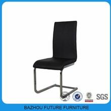 wholesale black PU chrome legs dining chair