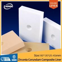 OCD alumina lining brick/ceramic liner/ceramic plate design/zirconia alumina liner/china