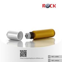 Good quality mini essential oil glass bottle 5ml roll on bottles amber glass vial