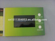 2015 tft lcd laser cut wedding invitations card video book