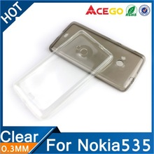 (Acego) 0.3mm Guangzhou clear transparent tpu for nokia lumia 535 covers and cases