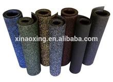 Rubber Flooring Rolls, 100% Black Rubber Flooring Rolls, 90% Black10%Colorful Granules Rubber Flooring Rolls