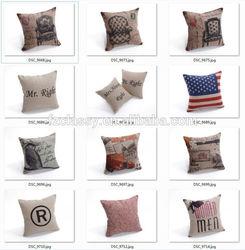 China Supplier Linen Cotton Home Decor 40x40cm Cushion Pillow Cover