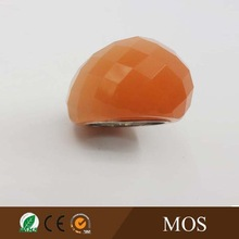 charm jewelry latest little orange finger ring designs ruby ring resin ring available in various color