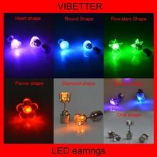 Novelty Colorful Eardrop For christmas Decoration LED Earrings