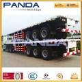 Panda trailr 3 fabricante del eje de aire de cama plana semi-remolque multi- uso remolque de contenedores para la venta