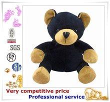 Lovely Custom Animal Plush Toys black bear figurines toy