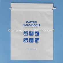 color printed gift packing ldpe plastic drawstring bag