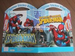 2015 eco-friendly high quality cartoon portable removable sticker book printing