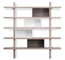 oak furniture living room cube wooden wall shelf