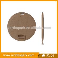 eco-friendly material round flat usb stick