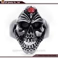 De acero inoxidable de la joyería cráneo de hombre circón anillo de la joyería de moda al por mayor para 2015