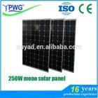 Hot sale 250W mono solar panel system
