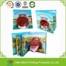 custom printing high quality full coloring child book sleepy snoozy hazel hippo finger book