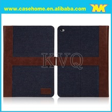 Luxury book style Jeans case for iPad air with wallet,card holder,check wallet