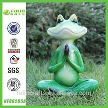 Resin Yoga Green Frog Figurine