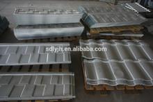 Blue grey slate maroon roman harvey stone coated steel roof tile