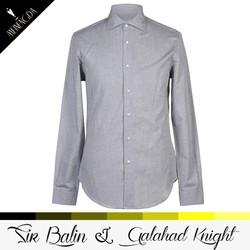 high quality long sleeve stylish design grey dress clothing customize fishing shirts dri fit