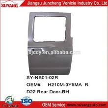 Suyang Car Doors Back Door For Frontier/D22 Auto Body Parts OEM#H210M-3Y5MA R