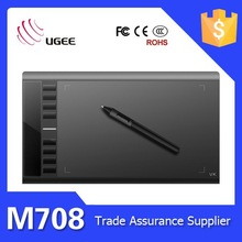 Ugee M708 5080LPI 10*6 inches 2048 levels electronic tablet with function keys