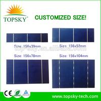 Customized size 156x78 MM 0.5V 2.1W PV broken solar cell,cutted solar cell,Broken PV solar cell
