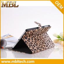 2015 Fashion Stand Elegant Leopard Case for iPad Mini 2 Leather Case