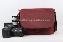 Reddish Brown Retro Leather Camera Bag