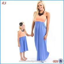 2015 Children latest dress style mother and daughter dress design for children girl dress