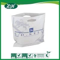 eco-friendly ldpe fashion design yellow flat plastic die cut bag for shopping