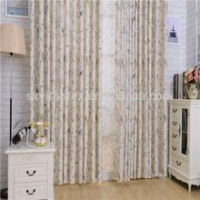 Korean garden bird simple cotton curtains tree curtain wholesale from factory cotton curtain