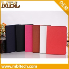Erectile Notebook Type Litchi Leather Case for iPad Mini with Magnetic Closure Leather Skin