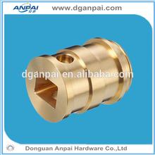 China cnc machined custom small brass drill guide