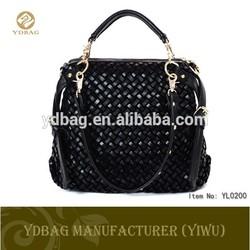 2015 hot product weave pattern fashion leather woman handbag china supplier