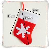 [JOY] Mini Christmas stocking , lovely small gift bag,nowon material red Xmas stocking