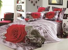 Floral jacquard printed 140x200 purple silk cotton famous brand bedding set